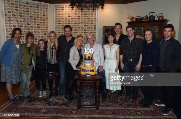 Nashville cast members Rhiannon Giddens Odessa Aldon Lennon Stella Maisy Stella Charles Esten Hayden Panettier Creator/Executive producer Callie...