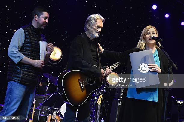 Nashville Mayor Megan Barry honors Kris Kristofferson along side Blackbird Presents CEO Keith Wortman at The Life Songs of Kris Kristofferson...