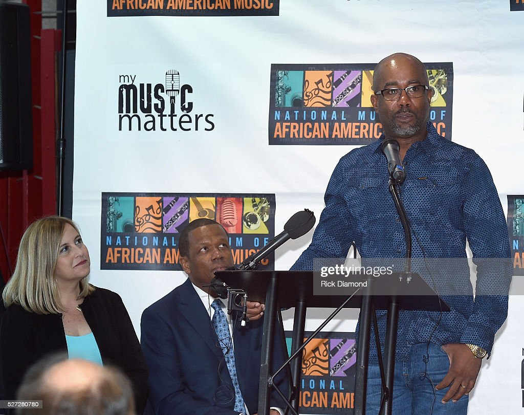 Nashville Mayor Megan Barry, Kevin P. Lavender NMAAM Board/Fifth Third Bank and Singer/Songwriter and NMAAM National Chairperson <a gi-track='captionPersonalityLinkClicked' href=/galleries/search?phrase=Darius+Rucker&family=editorial&specificpeople=215161 ng-click='$event.stopPropagation()'>Darius Rucker</a> attend NMAAM National Chairs And Fundraising Progress Press Conference at Nashville Vistor Center on May 2, 2016 in Nashville, Tennessee.