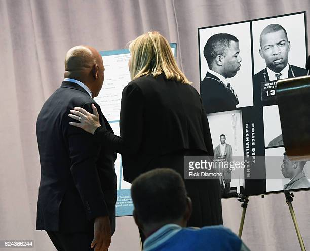 Nashville Mayor Megan Berry and Congressman/Civil Rights Icon John Lewis for the first time Congressman John Lewis views images and his arrest record...