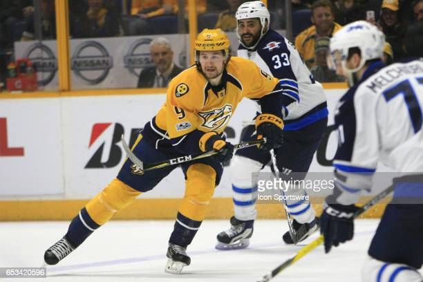 Nashville Predators left wing Filip Forsberg is shown during the NHL game between the Nashville Predators and the Winnipeg Jets held on March 13 at...