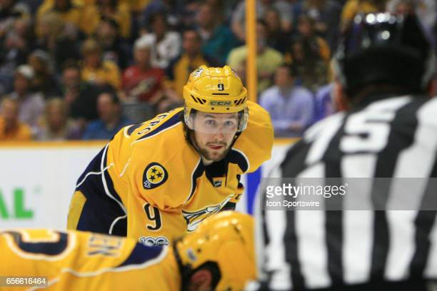 Nashville Predators left wing Filip Forsberg is shown during the NHL game between the Nashville Predators and the Arizona Coyotes held on March 20 at...