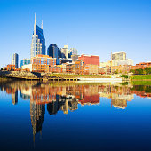 Nashville Skyline reflected in the Cumberland River