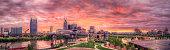 Nashville Sunset Panorama