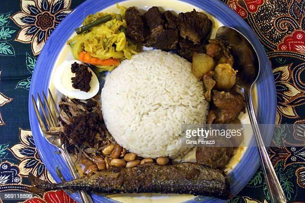 Nasi Lemak at Singapore and Malaysian Restaurant in Rosemead