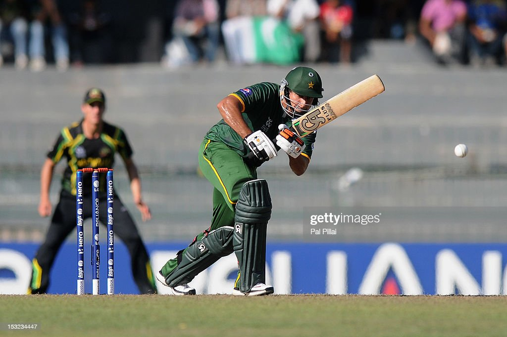 <a gi-track='captionPersonalityLinkClicked' href=/galleries/search?phrase=Nasir+Jamshed&family=editorial&specificpeople=4819500 ng-click='$event.stopPropagation()'>Nasir Jamshed</a> of Pakistan bats during the ICC World Twenty20 2012 Super Eights Group 2 match between Australia and Pakistan at R. Premadasa Stadium on October 2, 2012 in Colombo, Sri Lanka.