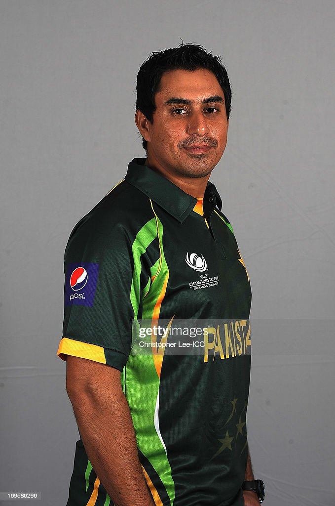 <a gi-track='captionPersonalityLinkClicked' href=/galleries/search?phrase=Nasir+Jamshed&family=editorial&specificpeople=4819500 ng-click='$event.stopPropagation()'>Nasir Jamshed</a> of Pakistan poses during a Pakistan Portrait Session at the Hyatt Hotel on May 28, 2013 in Birmingham, England.