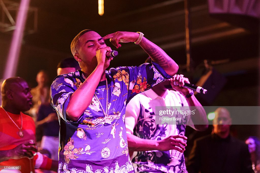 Nasire 'Nas' Jones performs onstage at Gotha Night Club during Cannes Lions International Festival of Creativity at Gotha Night Club on June 21, 2013 in Cannes, France.