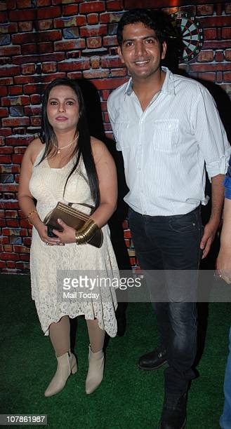Nasreen Mirza with Ashutosh at Salma Agha's bash at Dockyard in Mumbai