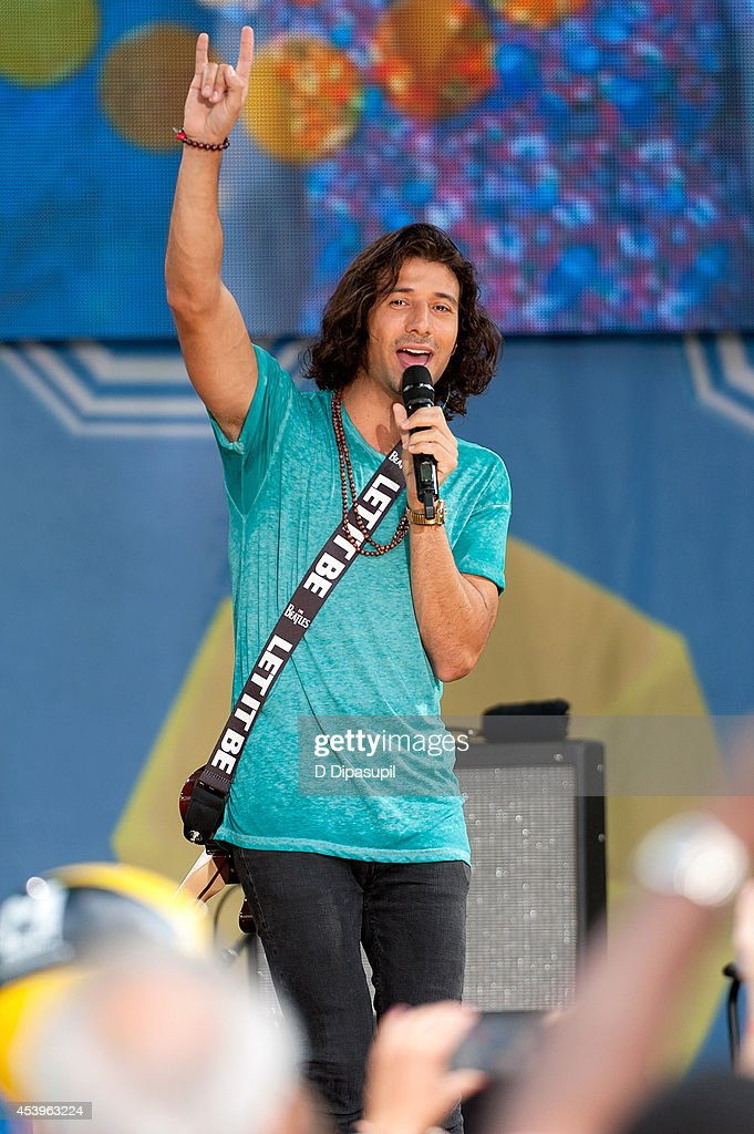 Nasri atweh of the band magic performs on abc s good morning america
