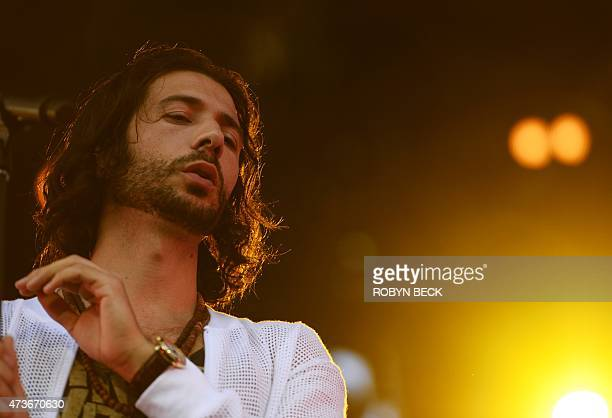 Nasri the lead singer of the Canadian reggae fusion band Magic performs during the Rock in Rio USA music festival May 16 at the MGM Resorts Festival...