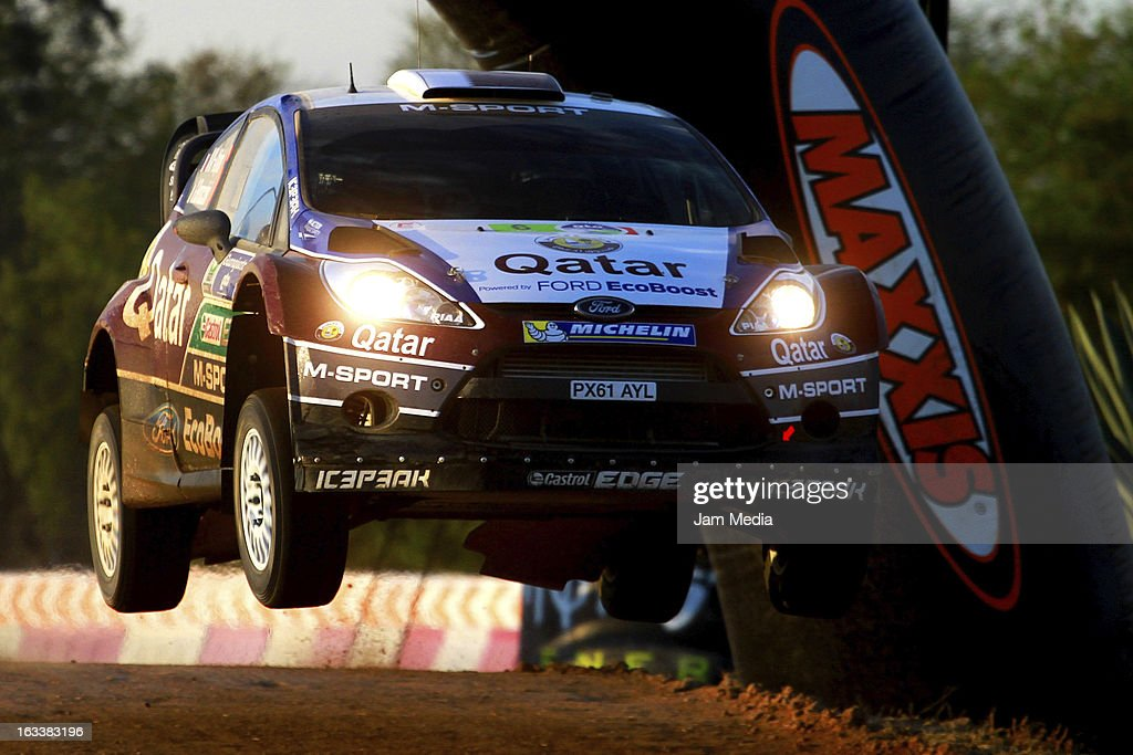 Nasser Al Attiyah and Giovanni Bernacchini of Quatar during the WRC Rally Championship Mexico on March 08, 2013 in Leon , Mexico.