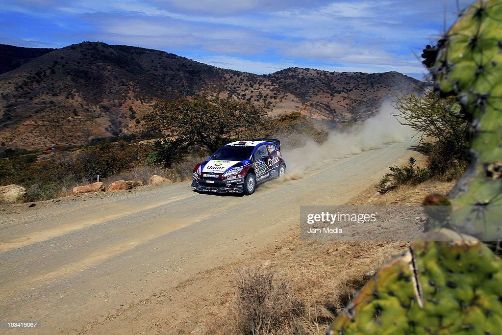 Nasser Al Attiyah and Giovanni Bernacchini of Quatar during the WRC Rally Championship Mexico on March 09, 2013 in Leon , Mexico.