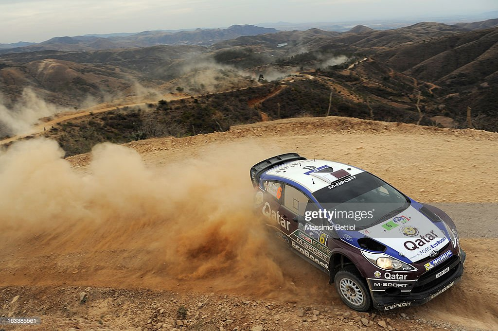 Nasser Al Attiyah of Qatar and Giovanni Bernacchini of Italy compete in their Qatar WRT Ford Fiesta RS WRC during Day One of the WRC Mexico on March 08 , 2013 in Leon , Mexico.