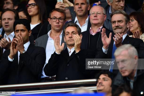 Nasser AL KHELAIFI / Nicolas SARKOZY / Frederic THIRIEZ Paris Saint Germain / Rennes 36eme journee de Ligue 1 Photo Dave Winter / Icon Sport