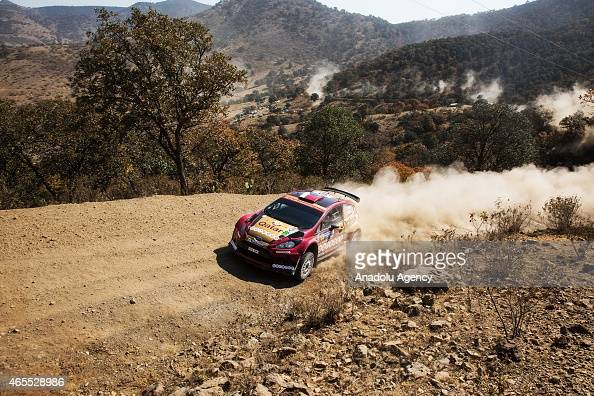 Nasser AlAttiyah and Matthieu Baumel compete during day 2 of FIA World Rally Championship Guanajuato 2015 On March 07 2015 in Guanajuato Mexico