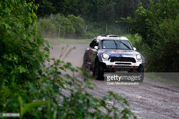 Nasser AlAttiyah of Qatar and Matthieu Baumel of France in the MINI ALL4 RACING for AXION XRAID TEAM compete on day three of the 2016 Dakar Rally...