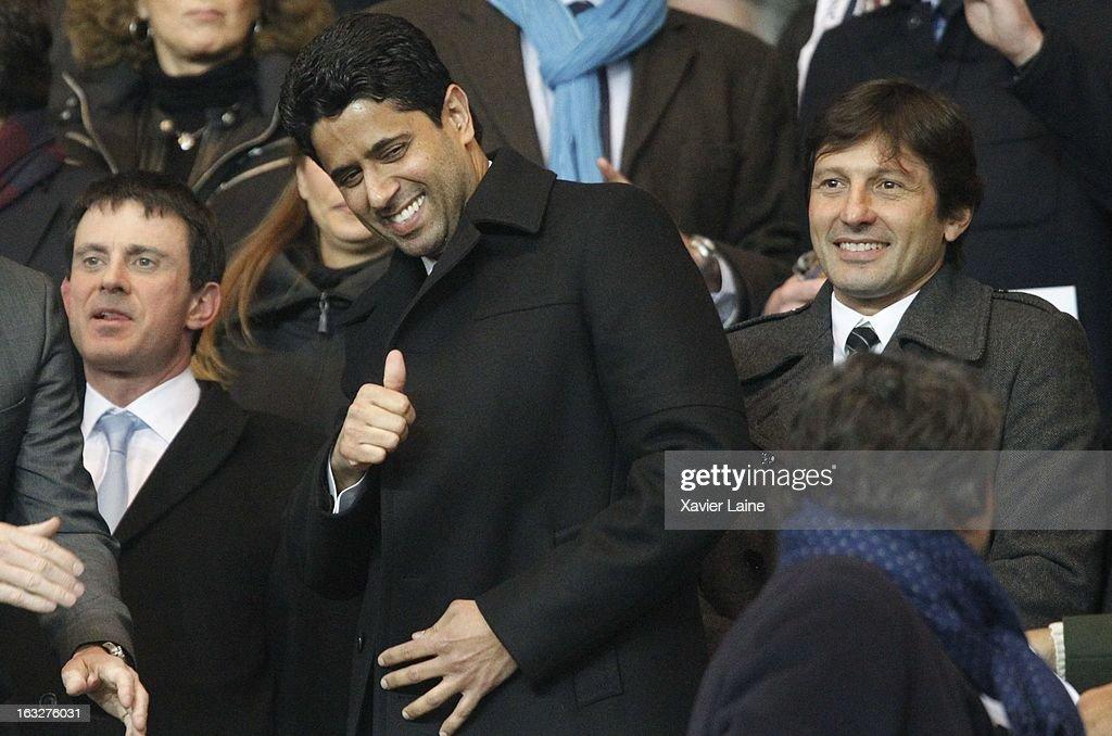 Nasser Al-Khelaifi attends the UEFA Champions League match between Paris Saint Germain FC and Valencia FC at Parc Des Princes on March 06, 2013 in Paris, France.