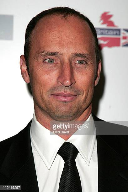 Nasser Hussain during Miss Great Britain 2007 Red Carpet Arrivals at Grosvenor House in London Great Britain