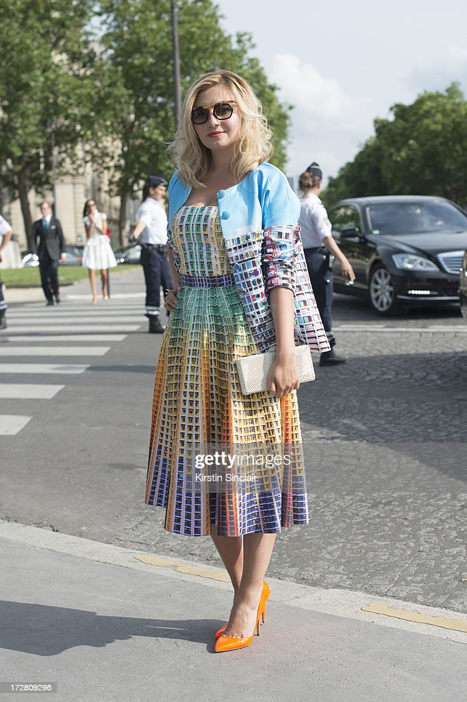 Nassiba Adilova on day 1 of Paris Collections: Womens Haute Couture on July 01, 2013 in Paris, France.