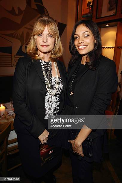 Nastassja Kinski and actress Rosario Dawson attend the 'Lambertz Monday Night' PreDinner on January 29 2012 in Cologne Germany