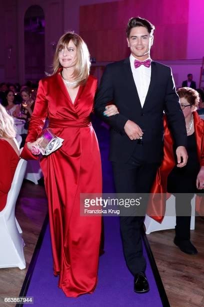 Nastassja Kinski and Dominik Bruntner during the Gloria Deutscher Kosmetikpreis at Hilton Hotel on March 31 2017 in Duesseldorf Germany