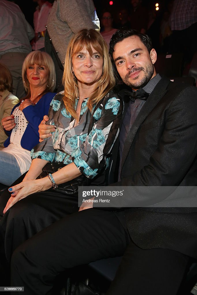 Nastassja Kinski and Ilia Russo attend the 8th show of the television competition 'Let's Dance' on May 06, 2016 in Cologne, Germany.