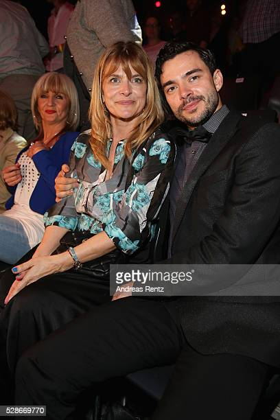 Nastassja Kinski and Ilia Russo attend the 8th show of the television competition 'Let's Dance' on May 06 2016 in Cologne Germany