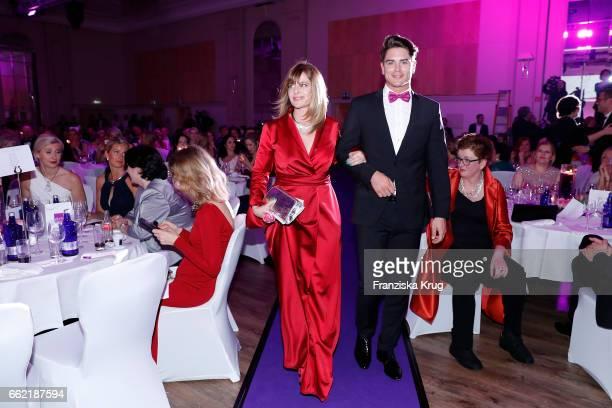 Nastassja Kinski and Mr Germany Dominik Bruntner during the Gloria Deutsche Kosmetikpreis at Hilton Hotel on March 31 2017 in Duesseldorf Germany