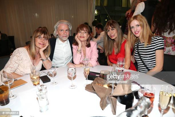 Nastassja Kinski Hermann Buehlbecker Isabelle Huppert Cassandra Gava and Wilma Elles during the media night of the CHIO 2017 on July 18 2017 in...