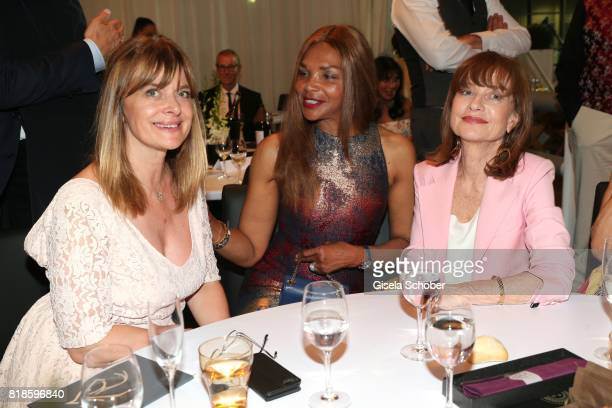 Nastassja Kinski Valerie Campbell and Isabelle Huppert during the media night of the CHIO 2017 on July 18 2017 in Aachen Germany
