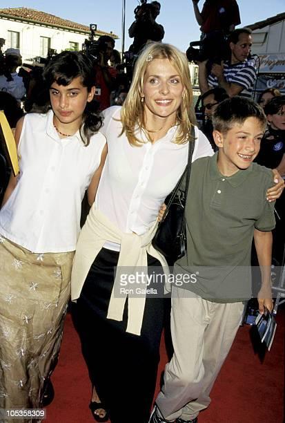 Nastassja Kinski with daughter Sonja and son Aljosha