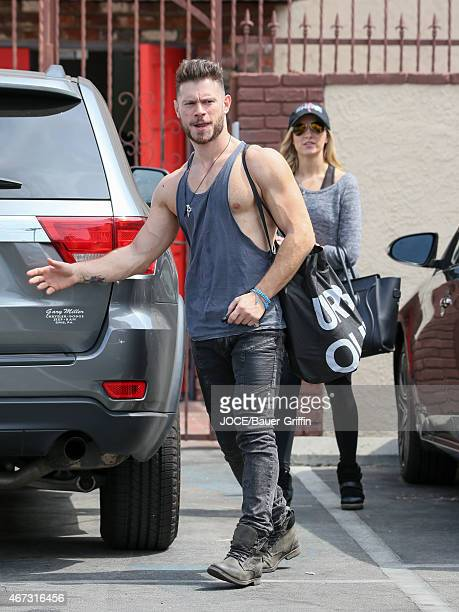 Nastia Liukin and Artem Chigvintsev are seen in Hollywood on March 22 2015 in Los Angeles California