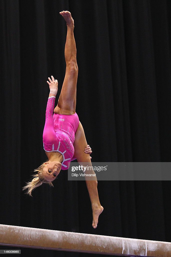 <a gi-track='captionPersonalityLinkClicked' href=/galleries/search?phrase=Nastia+Liukin&family=editorial&specificpeople=241334 ng-click='$event.stopPropagation()'>Nastia Liukin</a> competes on the balance bar during the Senior Women's competition on day two of the Visa Championships at Chaifetz Arena on June 8, 2012 in St. Louis, Missouri.