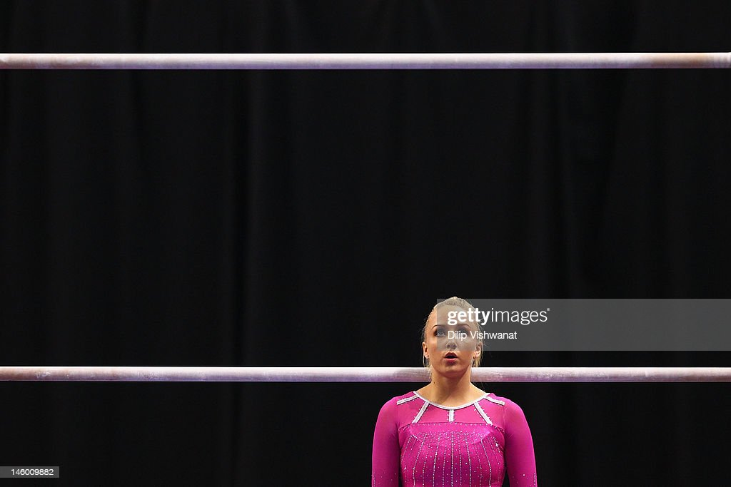 <a gi-track='captionPersonalityLinkClicked' href=/galleries/search?phrase=Nastia+Liukin&family=editorial&specificpeople=241334 ng-click='$event.stopPropagation()'>Nastia Liukin</a> prepares to compete on the uneven bars during the Senior Women's competition on day two of the Visa Championships at Chaifetz Arena on June 8, 2012 in St. Louis, Missouri.