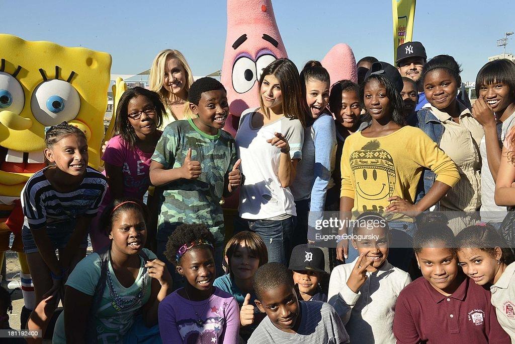 Nastia Liukin,Curtis Harris Jr., Daniella Monet and Amber Montana attend the Nickelodeon And Brooklyn Bridge Park Host Mini-Triathlon on September 19, 2013 in New York City.