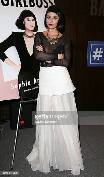 Nasty Gal Founder and CEO Sophia Amoruso attends a signing for her new book '#GIRLBOSS' at Barnes Noble bookstore at The Grove on May 12 2014 in Los...