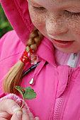 Nastya and ladybird