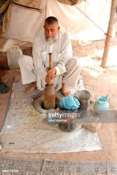 Naswar (Chewing Tobacco Powder) Shop In Jalozai Flood Refugee Camp