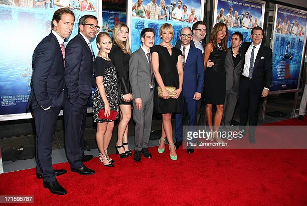 Nat Faxon Steve Carell AnnaSophia Robb Zoe Levin Liam James Toni Collette Jim Rash Tom Rice Allison Janney Sam Rockwell and Kevin Walsh attend 'The...