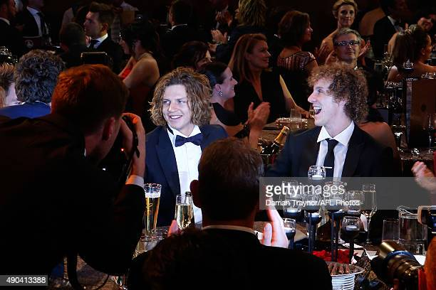 Nat Fyfe of the Dockers is announced as the winner of the 2015 Brownlow Medal at Crown Palladium on September 28 2015 in Melbourne Australia