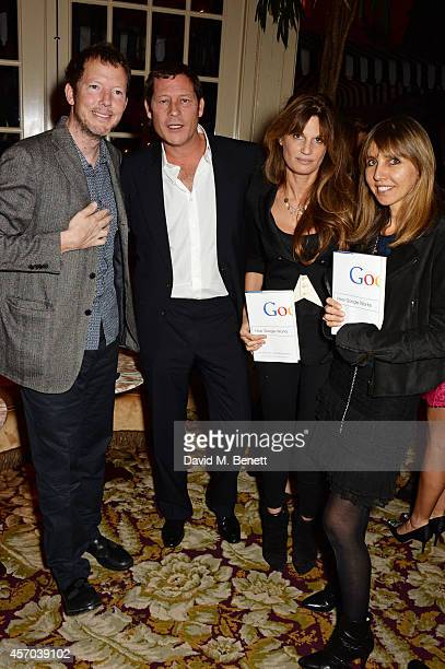 Nat Rothschild Arpad Busson Jemima Khan and guest attend the book launch party for 'How Google Works' by Eric Schmidt and Jonathan Rosenberg hosted...
