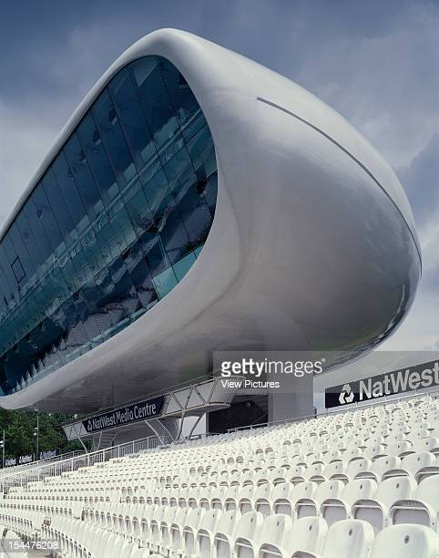 Nat West Media Centre Lords Cricket Ground London United Kingdom Architect Future Systems Nat West Media Centre Lords Cricket Ground Portrait Oblique...
