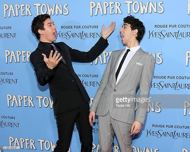 Nat Wolff and Alex Wolff attend the New York City premiere of 'Paper Towns' at AMC Loews Lincoln Square on July 21 2015 in New York City