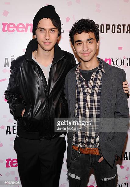 Nat Wolff and Alex Wolff of The Naked Brothers Band attend the 10th Anniversary of Teen Vogue and Aeropostale's Celebration of Chloe Grace Moretz's...