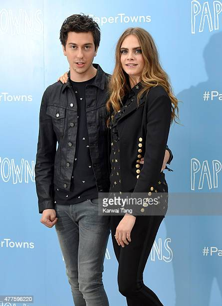 Nat Wolff and Cara Delevingne attend the 'Paper Towns' Photocall at Claridges Hotel on June 18 2015 in London England