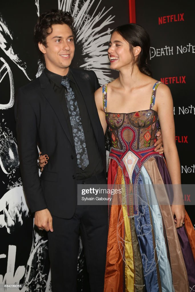 Nat Wolff and Margaret Qualley attend 'Death Note' New York Premiere at AMC Loews Lincoln Square 13 theater on August 17, 2017 in New York City.