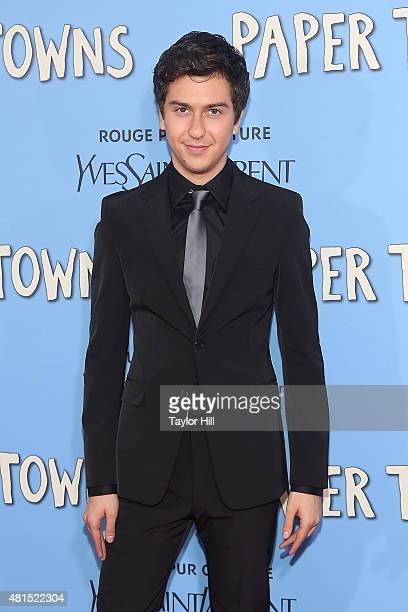 Nat Wolff attends the New York City premiere of 'Paper Towns' at AMC Loews Lincoln Square on July 21 2015 in New York City