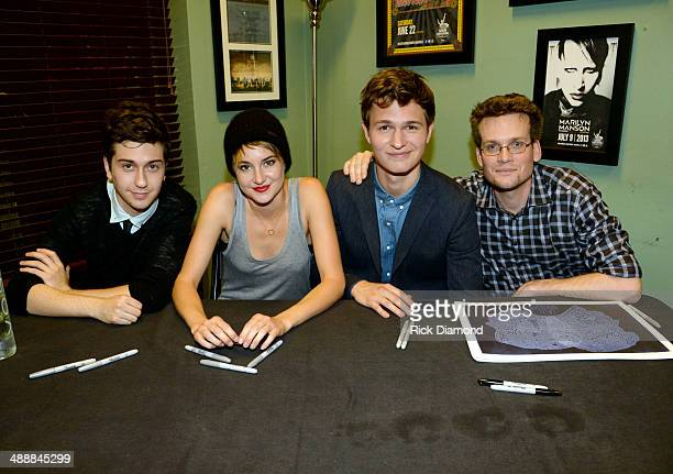 Nat Wolff Shailene Woodley Ansel Elgort and John Green attend 'The Fault In Our Stars' Nashville red carpet and fan event with Shailene Woodley Ansel...