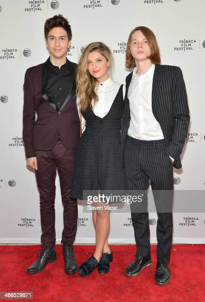 Nat Wolff Zoe Levin Jack Kilmer attend the 'Palo Alto' Premiere during the 2014 Tribeca Film Festival at the SVA Theater on April 24 2014 in New York...
